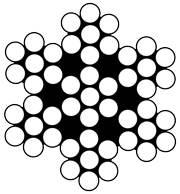 Edelst.draht Wst1.4401 7x7 2.5/3.5 PVC-klar ummant