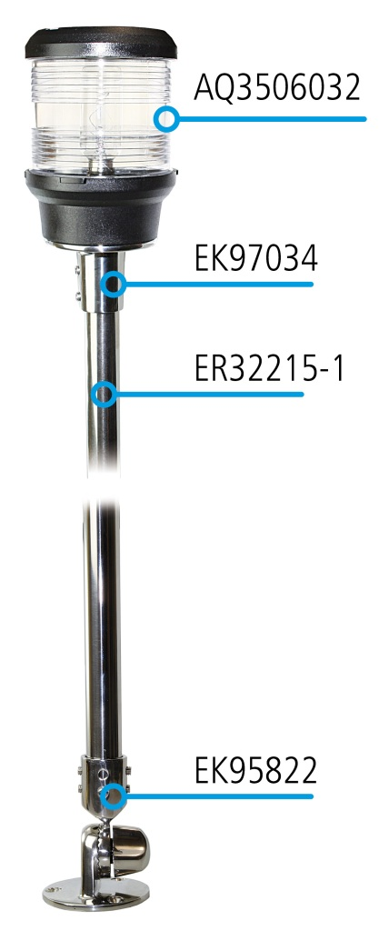 Halterung einstellbar für 22mm Rohr EK95822